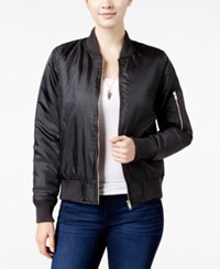 Say What Juniors' Bomber Jacket Black