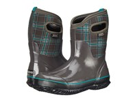 Bogs Classic Winter Plaid Mid Dark Gray Multi Women's Pull On Boots