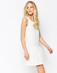 Jdy Sleeveless Drop Hem Dress Cloud Dancer White