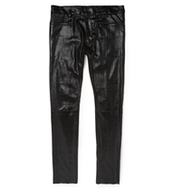 Haider Ackermann Slim Fit Stretch Leather Trousers Black