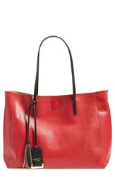 Poverty Flats By Rian 'Colorful' Faux Leather Shopper Red