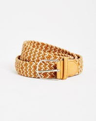 The Idle Man Woven Belt Tan