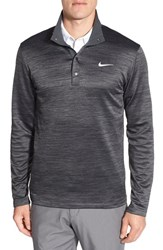 Nike Men's Dri Fit Heathered Long Sleeve Golf Pullover