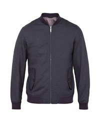 Ted Baker Truman Mini Design Bomber Jacket Navy