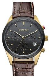 Women's Barbour 'Heritage' Leather Strap Watch 35Mm