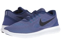 Nike Free Rn Dark Purple Dust Loyal Blue Blue Glow Black Men's Running Shoes