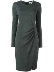 Michael Michael Kors Long Sleeve Dress Grey