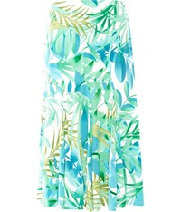 Cc Tropical Print Jersey Skirt Green