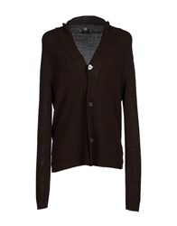 Canali Knitwear Cardigans Men Dark Brown