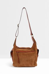 Isabel Marant Corte Suede Shoulder Bag Brown
