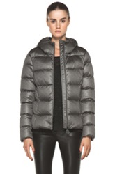 Moncler Jersey Poly Jacket In Gray