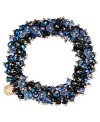 Charter Club After Party Beaded Stretch Bracelet Only At Macy's Blue Gold