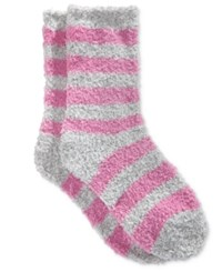 Charter Club Women's Marled Stripe Butter Socks Only At Macy's Mauve
