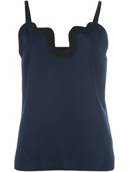 Victoria Beckham Waved Trim Camisole Blue