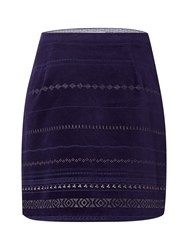 White Stuff North To South Sparkle Skirt Blue