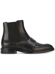 Christopher Kane Front Strap Ankle Boots Black