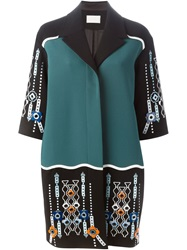 Peter Pilotto Embellished Single Breasted Coat Green