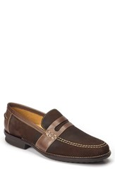 Sandro Moscoloni Men's Everett Penny Loafer Brown Leather