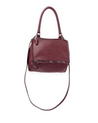 Givenchy Pandora Small Sugar Leather Bag Oxblood Red