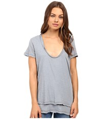 Free People Phoebe Tee Silver Women's T Shirt