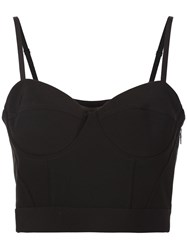 Alexander Wang Cropped Bustier Top Black