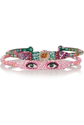 Finds Set Of Two Look And Sister Act Hand Painted Bracelets
