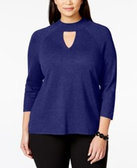 Inc International Concepts Plus Size Mock Turtleneck Cutout Sweater Only At Macy's