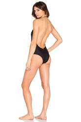 Aguadecoco Chain Low Back One Piece Black