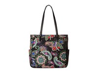 Vera Bradley Preppy Poly Zip Top Tote Kiev Paisley Tote Handbags Multi