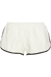 Band Of Outsiders Wrinkled Leather Shorts