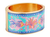 Lilly Pulitzer Boca Grande Bangle Pool House Blue Too Much Bubbly Bracelet