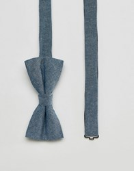 Jack And Jones Bow Tie In Chambray Blue