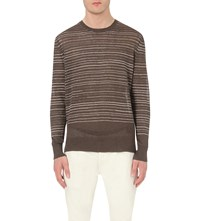Allsaints Brakken Knitted Jumper Khaki Brown