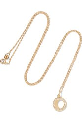 Andrea Fohrman Waning Gibbous Moon 18 Karat Gold Diamond Necklace One Size