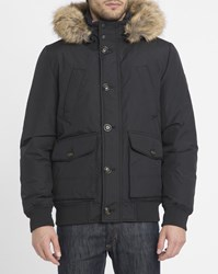 Tommy Hilfiger Black Hampton Removable Fur Collar Jacket