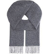 Johnstons Brodie Chunky Cashmere Scarf Blue