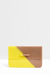 Del Duca Romy Small Diagonal Clutch Yellow