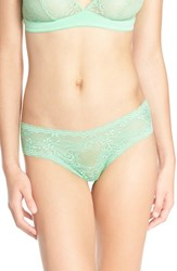 Cosabella Women's 'Trenta' Low Rise Lace Thong Green Prairie