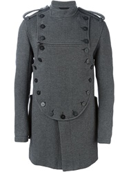 Ann Demeulemeester Military Coat Grey
