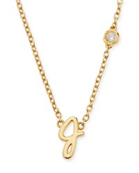 J Initial Pendant Necklace With Diamond Shy By Sydney Evan Gold