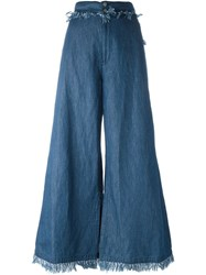 Tsumori Chisato Flared Denim Trousers Blue