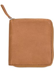A.P.C. Zipped Wallet Brown