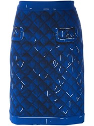 Moschino Trompe L'oeil Skirt Blue
