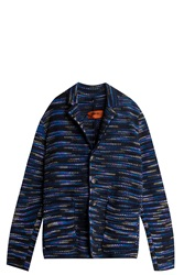 Missoni Cable Knit Blazer Blue