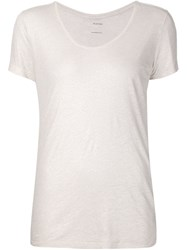 Majestic Filatures Classic Round Neck T Shirt Pink And Purple