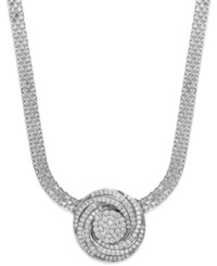 Wrapped In Love Diamond Pave Pendant Necklace In Sterling Silver 1 Ct. T.W.