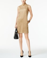 Alfani Prima Faux Suede Shift Dress Only At Macy's Modern Camel