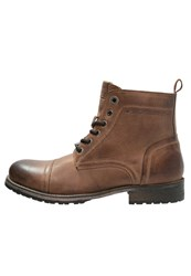 Pepe Jeans Melting Med Laceup Boots Tobacco Brown