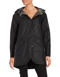 Barbour Coll Wax Coated Jacket Black