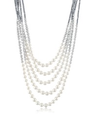 A Z Collection Multi Strand Long Bead Necklace Blue